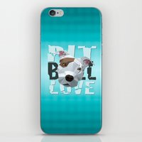 pit bull iPhone & iPod Skins featuring Pit Bull by Benjamin Ring