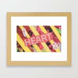 I Heart U. Framed Art Print