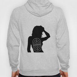 Female Human Shape Target Hoody