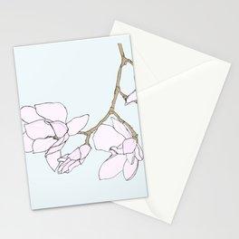 Pink Magnolia Sketch Stationery Cards