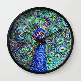 Brilliant Jeweled Peacock Wall Clock