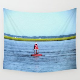 The Little Red Buoy Wall Tapestry