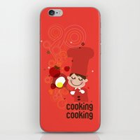 cooking iPhone & iPod Skins featuring Cooking Papa by inkdesigner