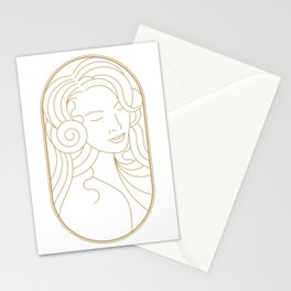 Girl Art Deco 07 Stationery Cards