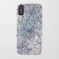 austin iPhone & iPod Cases featuring Austin map by MapMapMaps.Watercolors