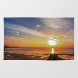 Boating Sunset Rug