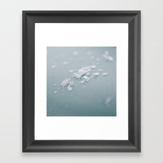 Snow flakes Framed Art Print