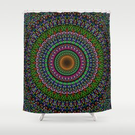 Hypnotic Church Window Mandala Shower Curtain