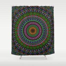 Hypnotic Church Window Mandala Shower Curtain