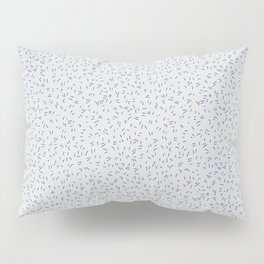 Modern abstract hand painted gray blue paint brushstrokes Pillow Sham