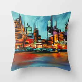 City Scapes Throw Pillow