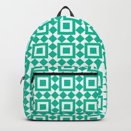 Moroccan Tiles Green Backpack
