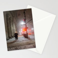 New York City Snow Romance Stationery Cards