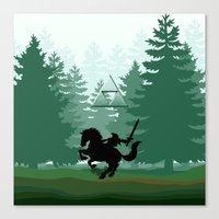 legend of zelda Canvas Prints featuring Legend Of Zelda by Kesen