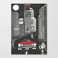 sin city Canvas Prints featuring sin city by Carmit Levy