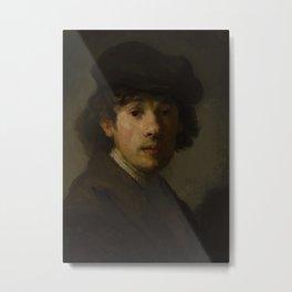 Rembrandt as a young man, portrait Metal Print