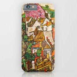 Egon Schiele - Landscape at Krumau 1916 iPhone Case