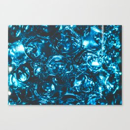 Sparkly blue water marbles Canvas Print