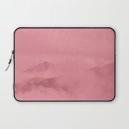 Rose Quartz Fog Surrounding Anchorage Mountains Laptop Sleeve
