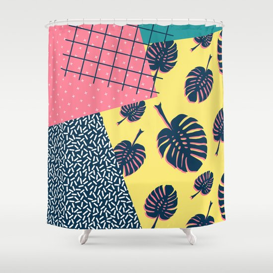 90s Monstera Society6 Decor Buyart Shower Curtain By