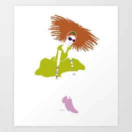 Hey there! Art Print