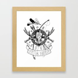 Spiritual Warrior Framed Art Print