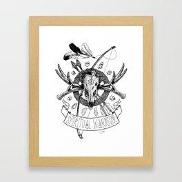 Spiritual Warrior Framed Art Print