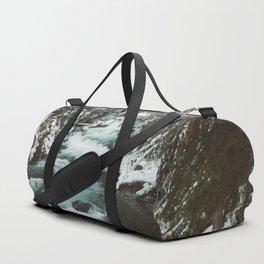 The Wild McKenzie River Portrait - Nature Photography Duffle Bag