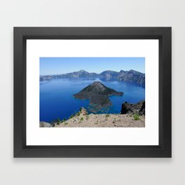 Crater Lake Volcanic Crater Oregon USA Framed Art Print