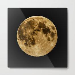 Full moon during night time Metal Print