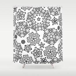 Black pattern Shower Curtain