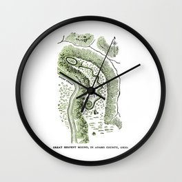 Great Serpent Mound Wall Clock
