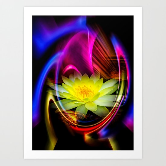 Flower Magic -Water lily Art Print