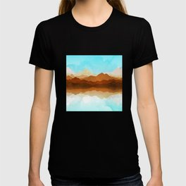 Western Sky Reflections In Watercolor T-shirt