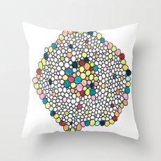 Color Cells Throw Pillow