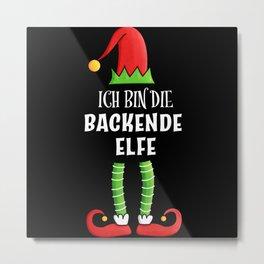 Backende Elfe Partnerlook Weihnachten Metal Print