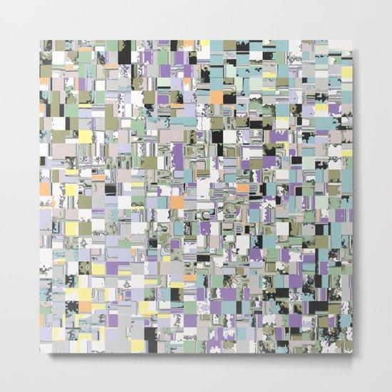 Chaotic Geometric Tiles Metal Print