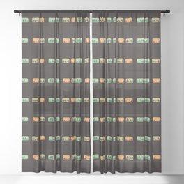 Ground Zero - Zombie Subway Sheer Curtain