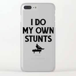 Gymnastics Pommel Horse Do My Own Stunts Clear iPhone Case