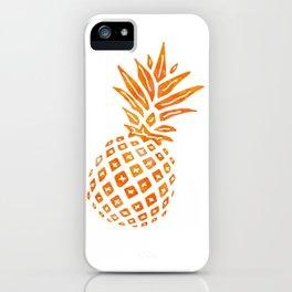 Orange Swirl Pineapple - Single iPhone Case