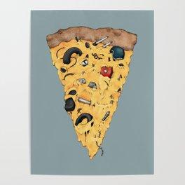 Moto Pizza –Color Poster