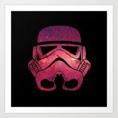 Stormtrooper on Red Stars Art Print