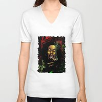 marley V-neck T-shirts featuring MARLEY - MARLEY by Raisya