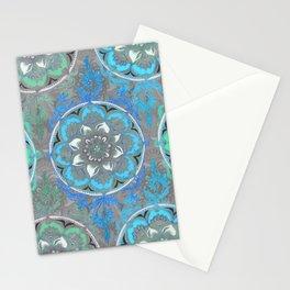 Mint Green, Blue & Aqua Super Boho Medallions Stationery Cards