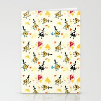 bill cipher Stationery Cards featuring Bill cipher by ChibiGaia