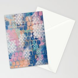 honeycomb and lace Stationery Cards