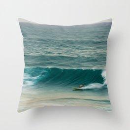 Surfer in Burleigh Heads Throw Pillow