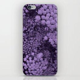 Purple Laceflower iPhone Skin
