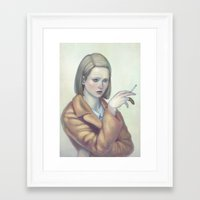 tenenbaum Framed Art Prints featuring Margot Tenenbaum by Lek Chan