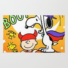 Snoopy Boo Halloween Rug
